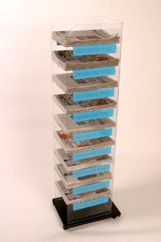 Newspaper Display Stand 10 Tier