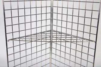 Triangular Corner Shelf for Gridwall