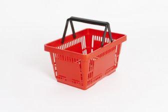 Plastic Shopping Basket Red