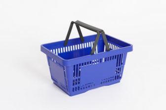 Plastic Shopping Basket Blue