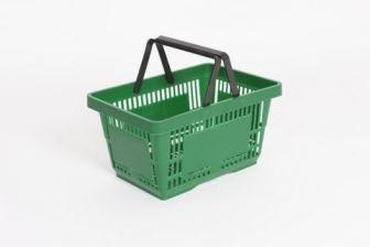 Plastic Shopping Basket Green