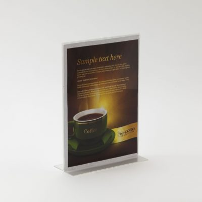 Freestanding Acrylic Poster Holder - Double Sided