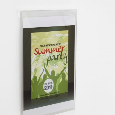 Wall Mounting Acrylic Poster Holder - Various Sizes