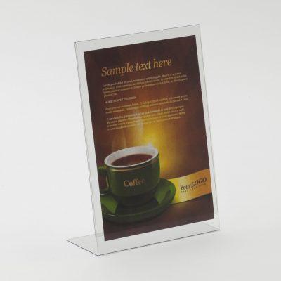 Freestanding 'Lean Back' PVC Poster Holder