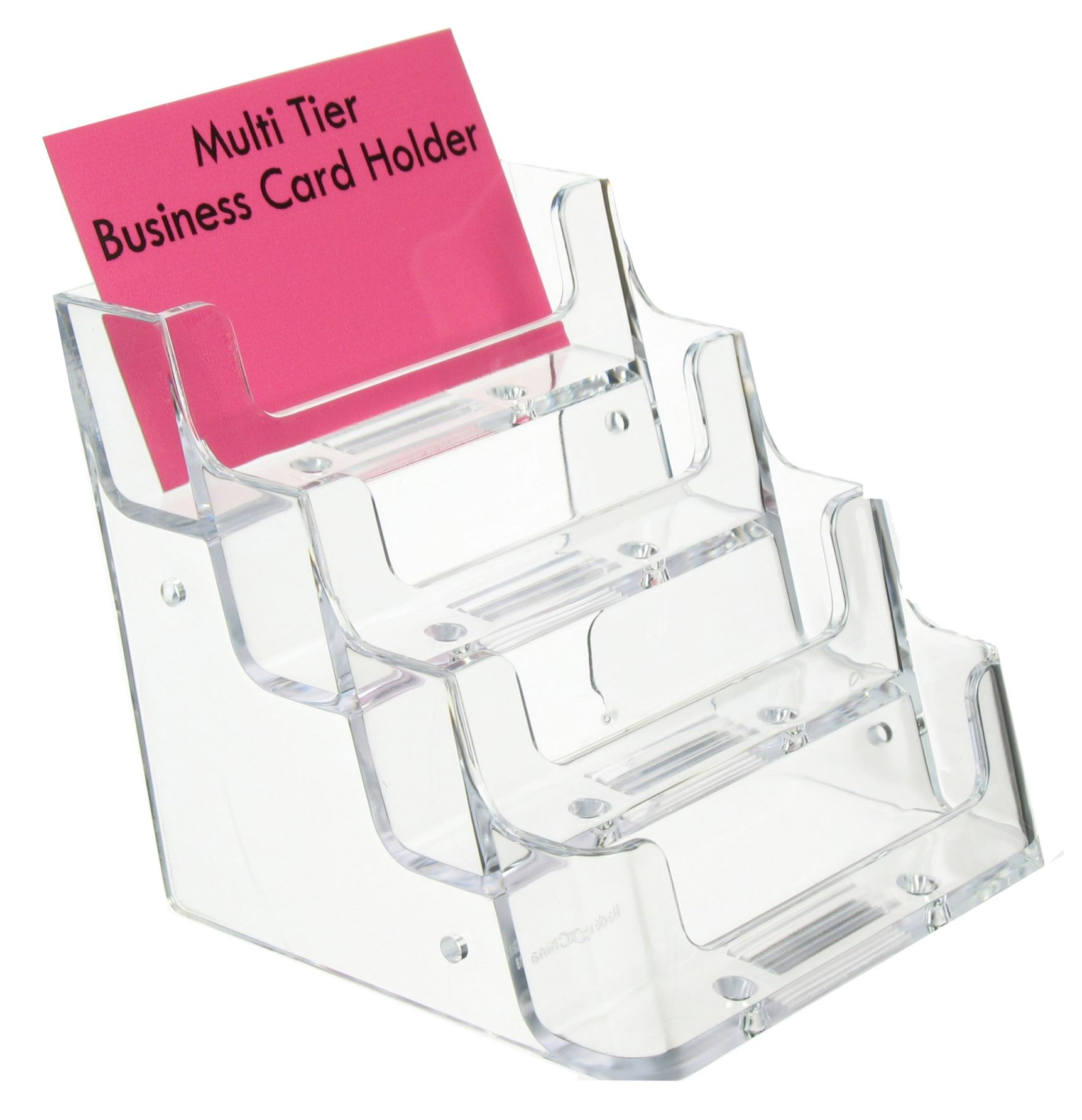 Business Card Holder 4 Pocket Multi Tier Cards Office Exhibition Display OW4238