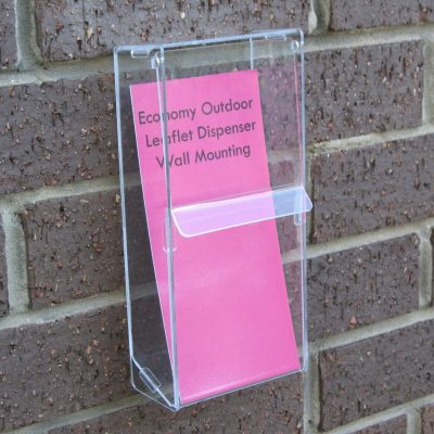 Economy Outdoor Leaflet Dispenser - Wall Mounted