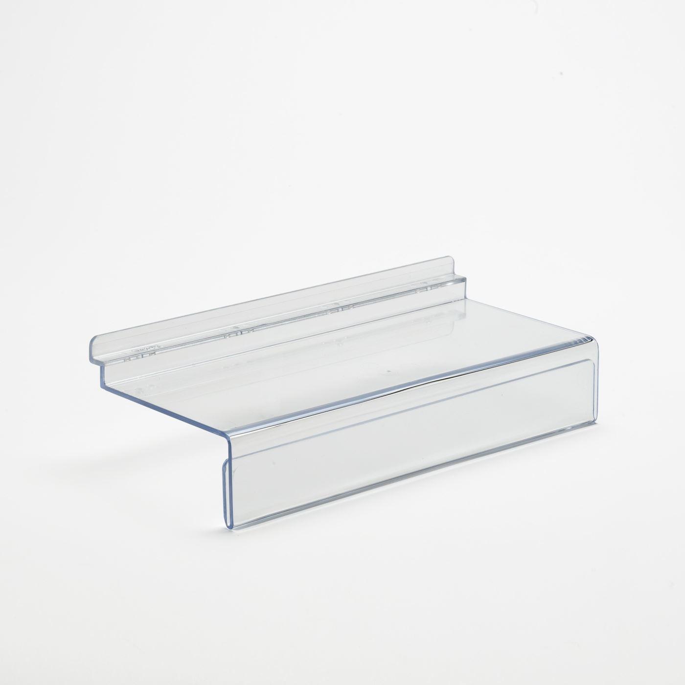 Slatwall Shelf With 40mm Ticket Holder: 250mm (W) x 40mm (H) x 100mm (D)