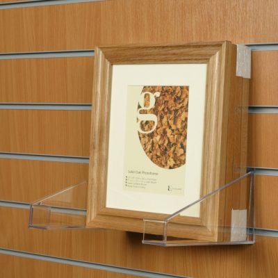 Slatwall Photo Frame Holder - Large: 120mm (H) x 240mm (D)
