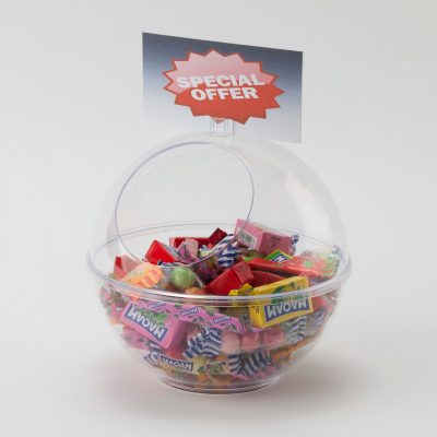 Spherical Counter Top Dump Bin / Sweet Dispenser