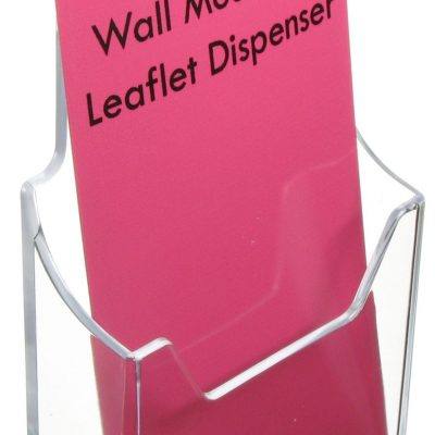 1/3 A4 Leaflet Dispenser  - Wall Mounting